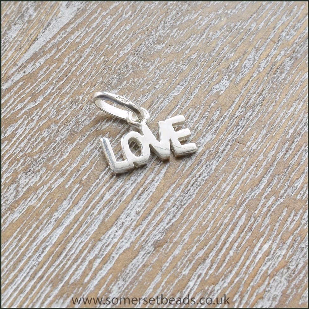 915 Sterling Silver Love Charm