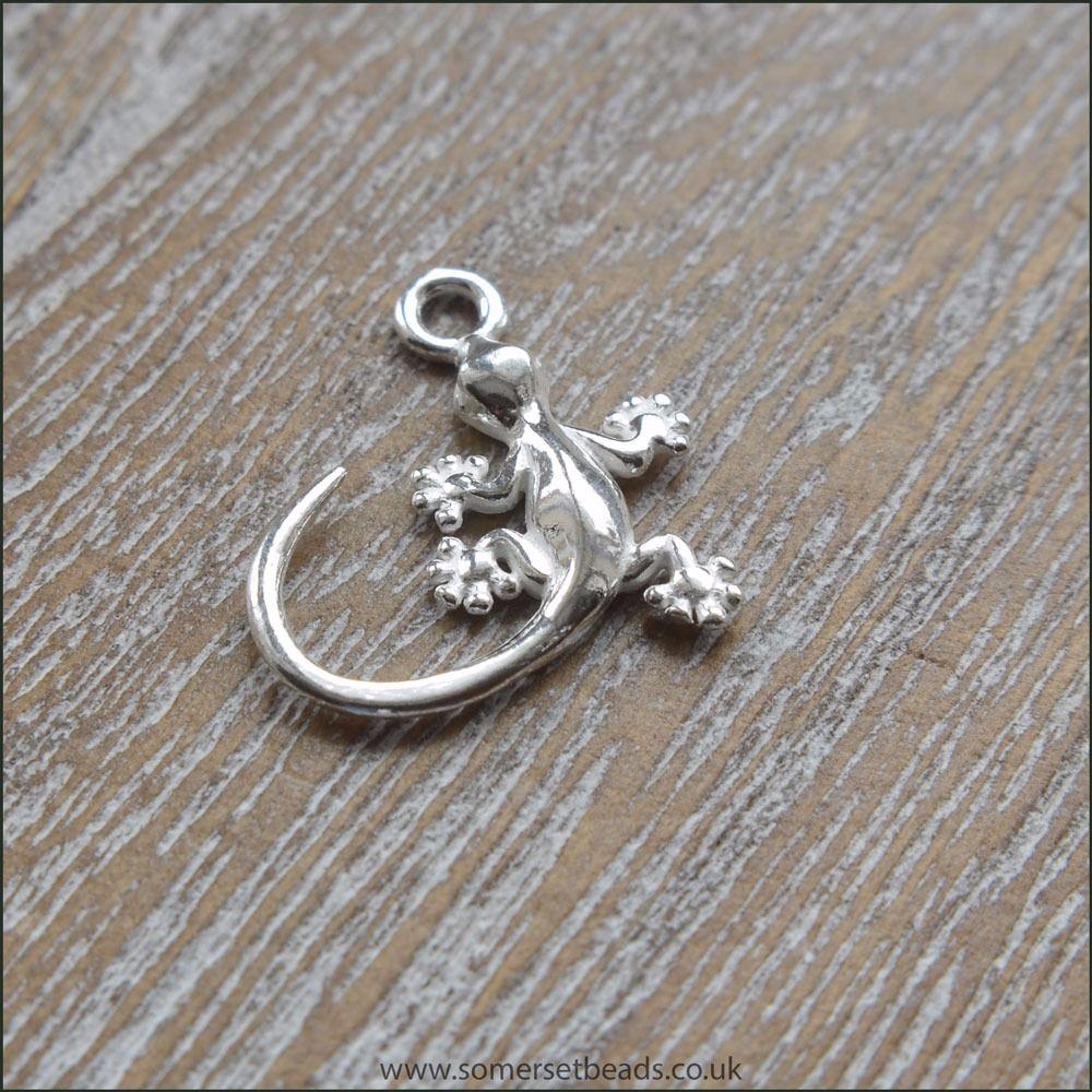 Sterling Silver Gecko Charm