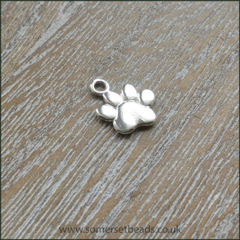 Sterling Silver Paw Print Charm