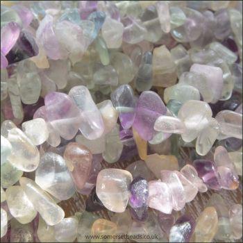 Fluorite Semi Precious Chip Beads