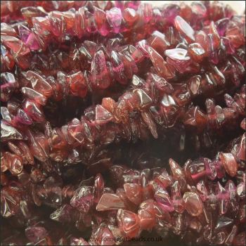 Garnet Semi Precious Gemstone Chip Beads