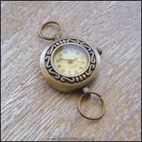 Round Antique Bronze Quartz Watch Face For Jewellery Making
