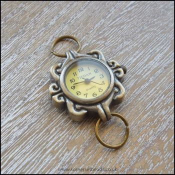 Retro Bronze Round Watch Face For Jewellery making