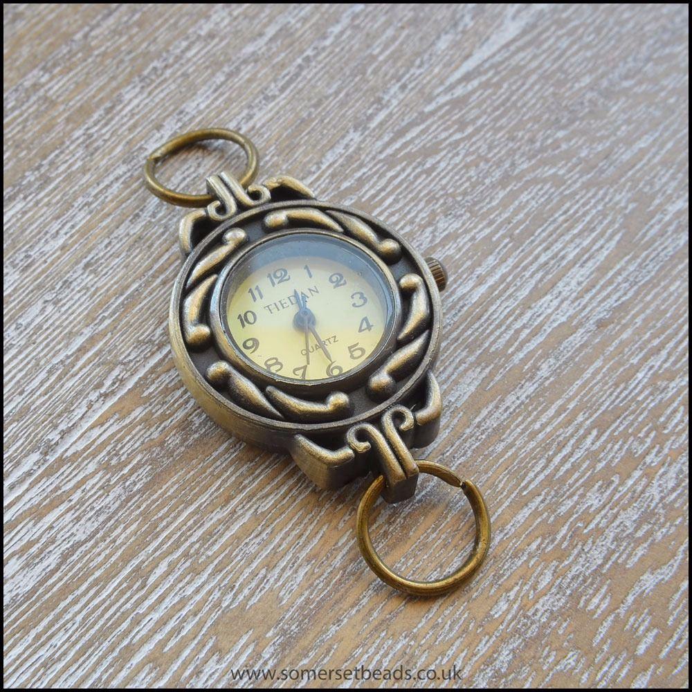 Retro Round Antique Bronze Quartz Watch Face For Jewellery Making