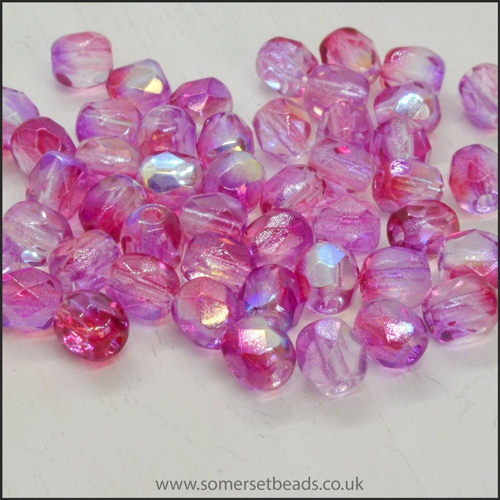 Czech Glass Fire Polished Beads