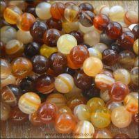 Chocolate Agate 6mm Plain Semi Precious Beads