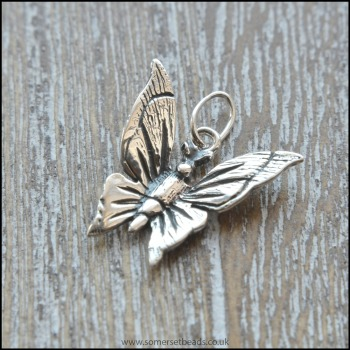 925 Sterling Silver Butterfly Charm