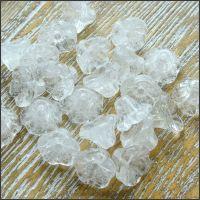 Czech Glass Flower Cup Beads 5mm x 7mm- Crystal