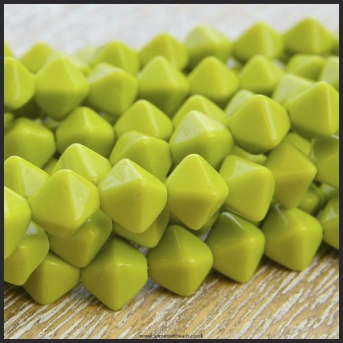 Czech Glass Bicone Beads 6mm - Chartreuse