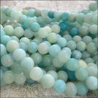 Natural Amazonite Semi Precious 6mm Plain Round Beads