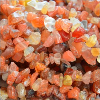 Carnelian Semi Precious Gemstone Chips 5-8mm