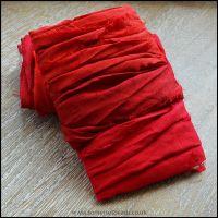 Scarlet Sari Silk Ribbon