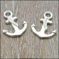 Antique Silver Tibetan Style Anchor Charms