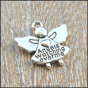 Silver Angel Watching Over Me Charms