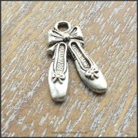 Silver Ballet Shoes Charms
