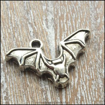 Silver Bat Charm