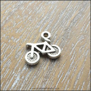 Silver Bicycle Charms