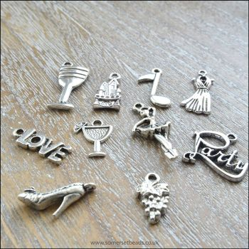 Silver Party Charms