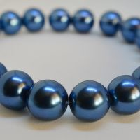 <!-- 004 -->12mm Glass Pearl Round Beads - Blue