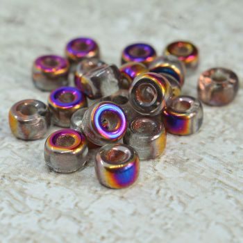 Czech Glass Wheel Beads 6mm x 4mm Bronze Vitrail Mix