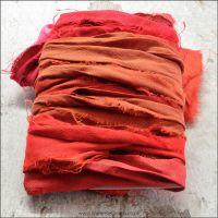 Flame Sari Silk Ribbon