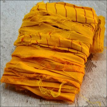 Gold Sari Silk Ribbon