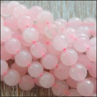 Rose Quartz 6mm Round Faceted Semi Precious Beads