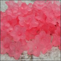 10mm Pink Lucite Flower Beads