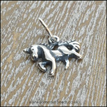 Antique Sterling Silver Unicorn Charm