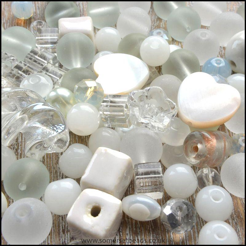 White Bead Mix - 100g