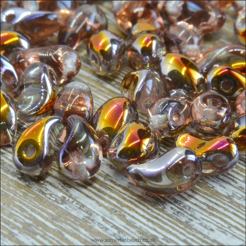 Czech Glass Petal Beads Crystal Sliperit 6mm x 4mm Pk 50