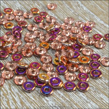 Czech Glass O Beads - Crystal Sliperit
