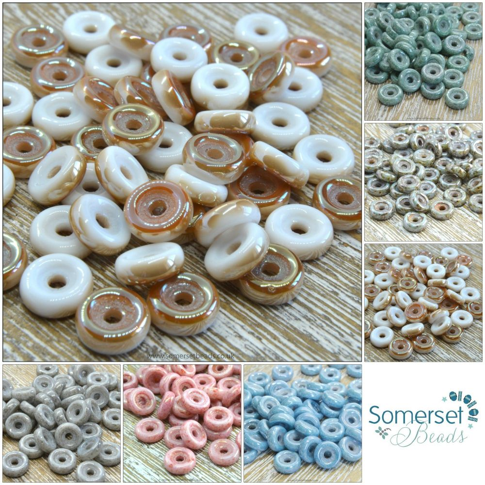 czech glass wheel beads