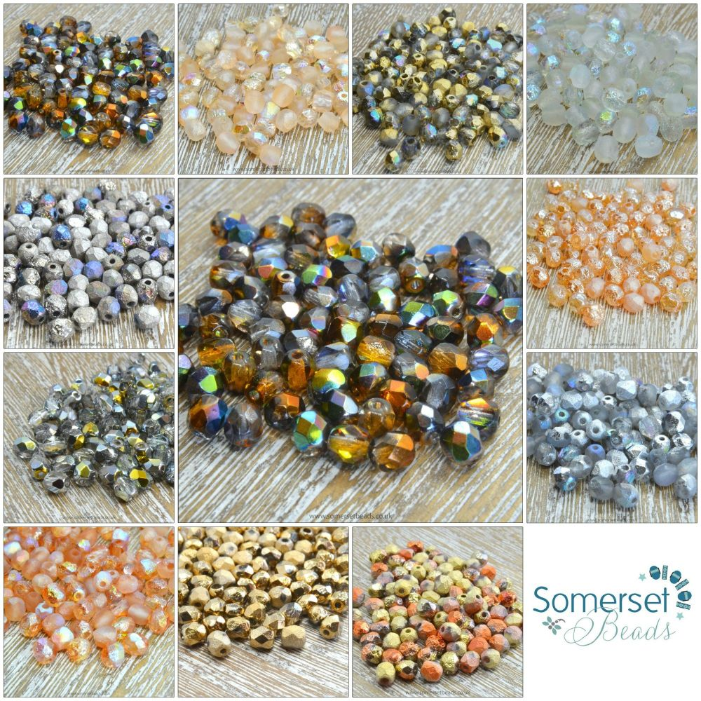 4mm czech fire polished beads