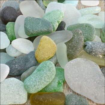 Sea Glass, Mixed Colours & Sizes, 200g