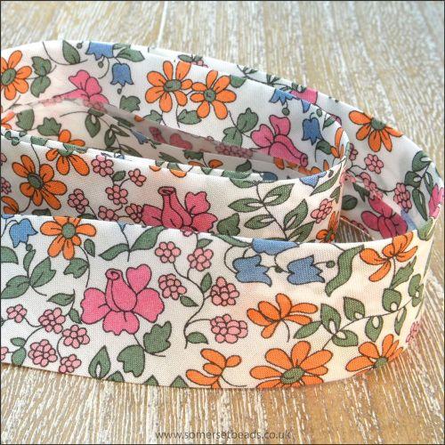 Liberty Of London Bias Ribbon 20mm Emilias Bloom Multicoloured
