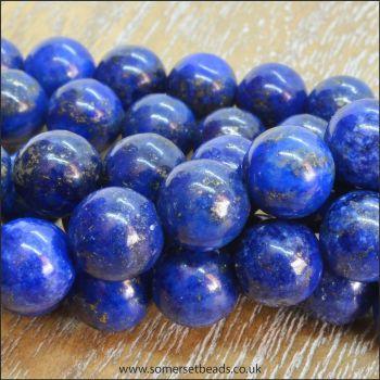 8mm Natural Lapis Lazuli Plain Round Beads