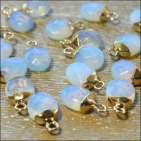 Opalite Faceted Oval Drop Pendant