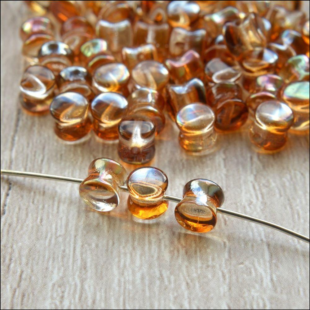 Preciosa Czech Glass Pellet Beads - Crystal Venus