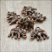 Copper Vintage Style Elephant Charms