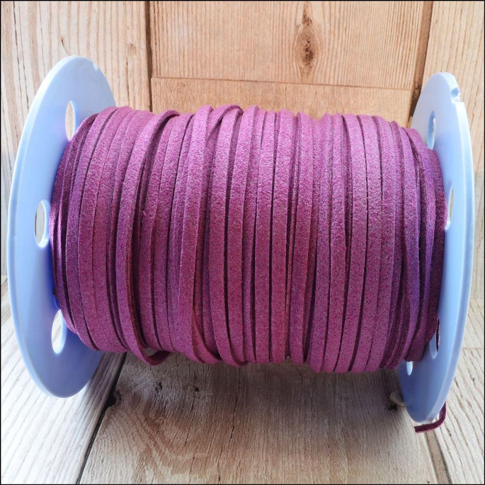 3mm Faux Suede Cord - Purple
