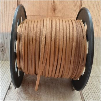 3mm Faux Suede Cord - Coffee
