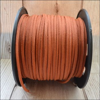 3mm Faux Suede Cord  - Salmon