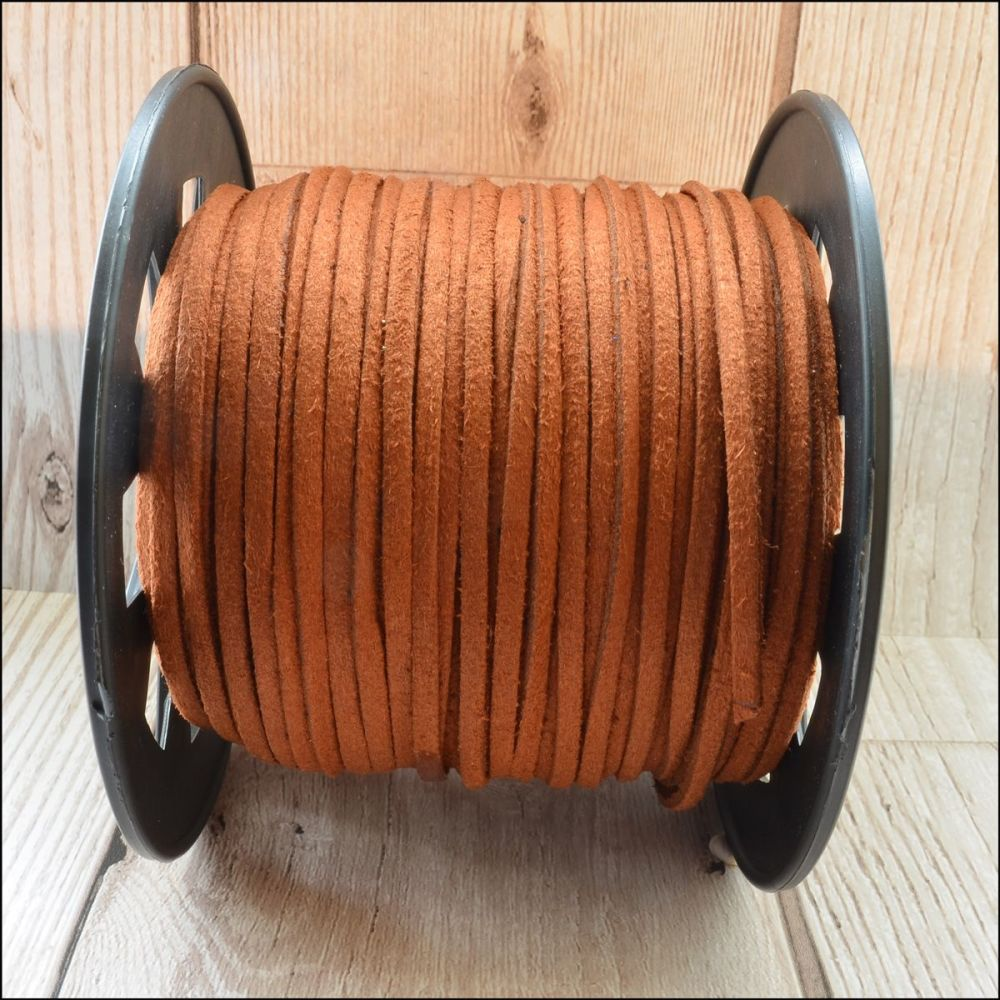 3mm Faux Suede Cord - Sienna