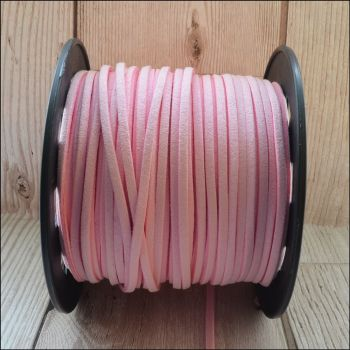 3mm Faux Suede Cord - Pink