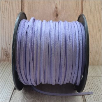 3mm Faux Suede Cord - Lilac