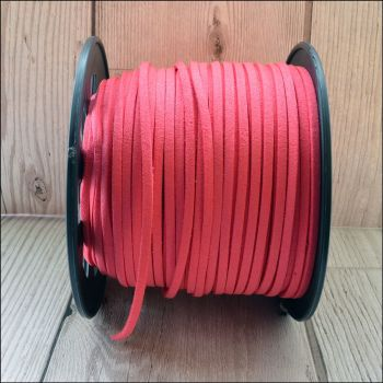 3mm Faux Suede Cord - Hot Pink
