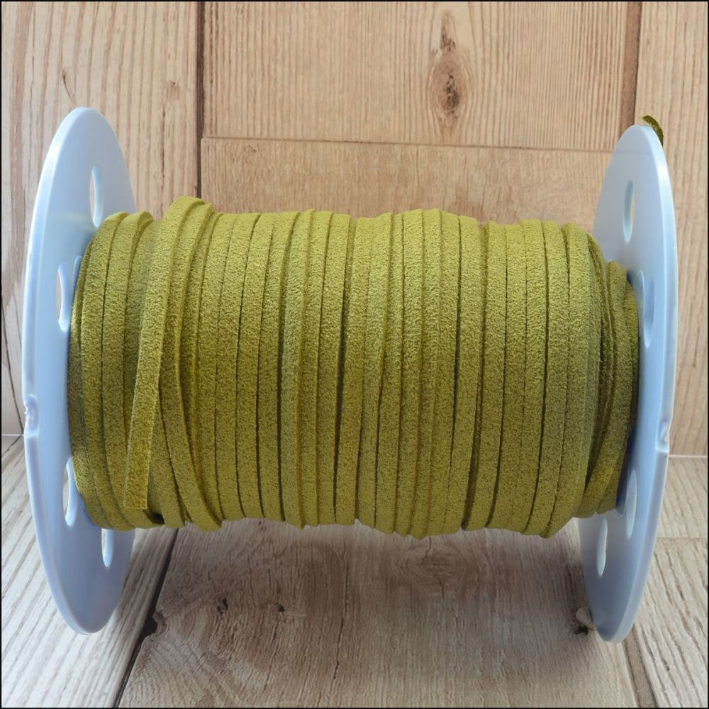 3mm Faux Suede Cord- Olive