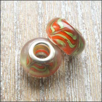 Mango Glass European Bead