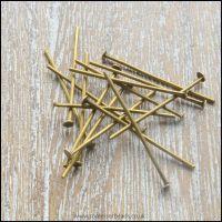 24mm Antique Bronze Tone Head Pins